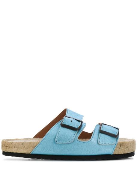 Manebi Nordic slip-on sandals in blue