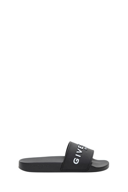 Givenchy Embossed Logo Slide in nero