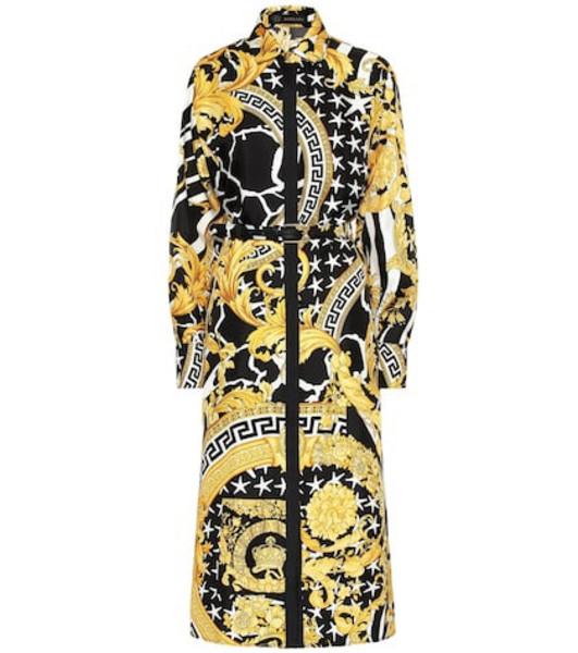 Versace Baroque silk midi dress