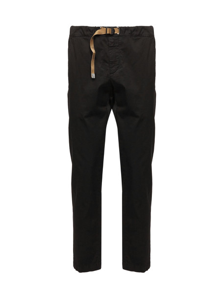 White Sand Belted Slim Jeans in nero