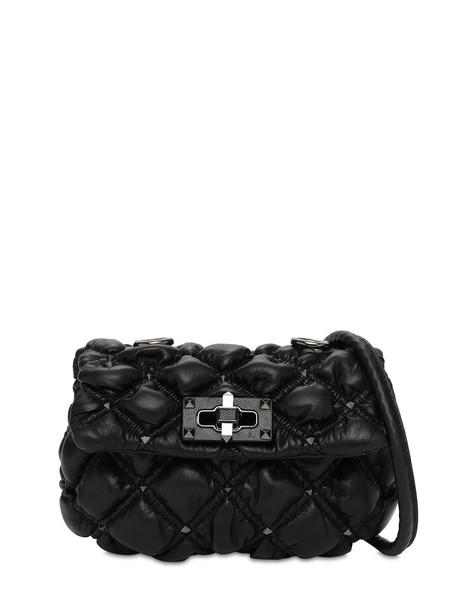 VALENTINO GARAVANI Small Spikeme Micro Studs Shoulder Bag in black
