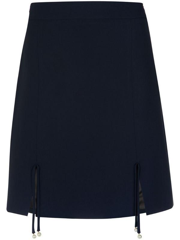 Nk front slits skirt in blue