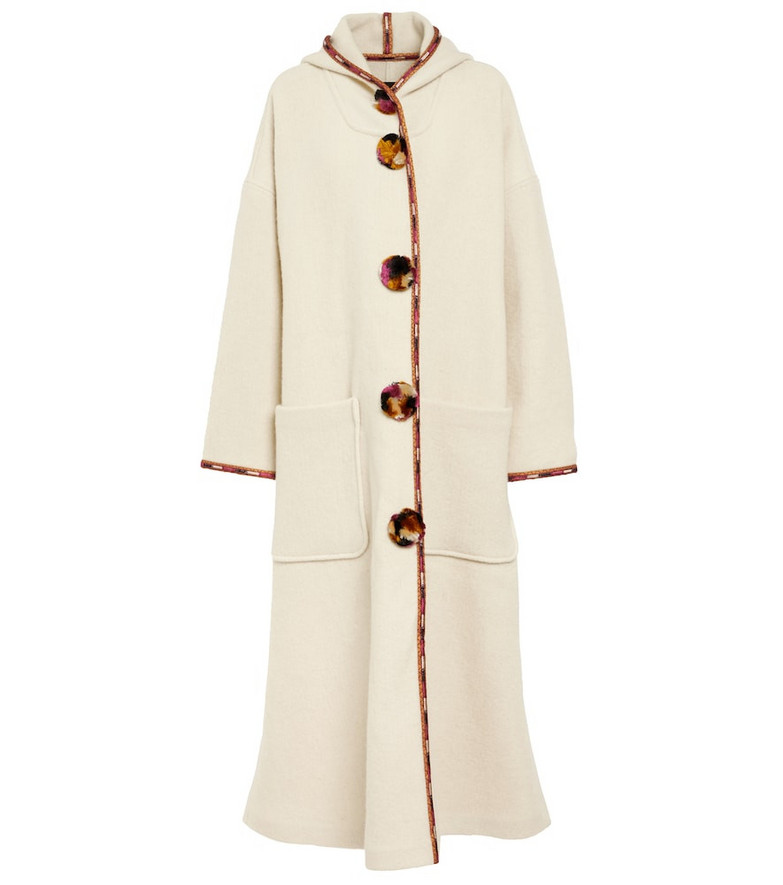 Isabel Marant Earley virgin wool coat in white