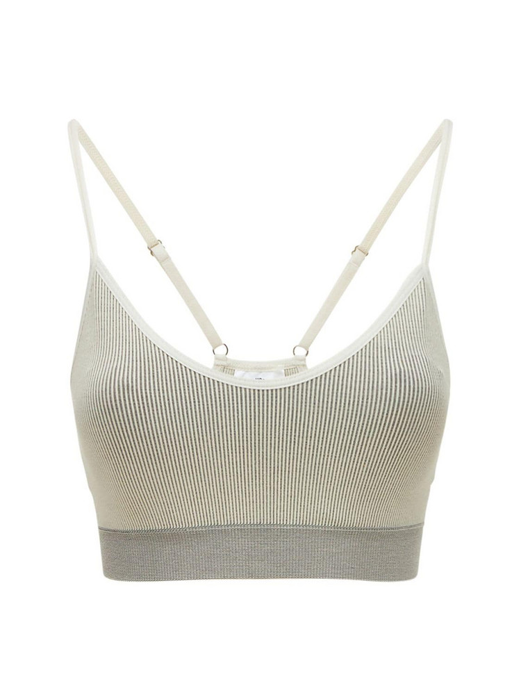 THE UPSIDE Zahra Circular Knit Bra Top in grey
