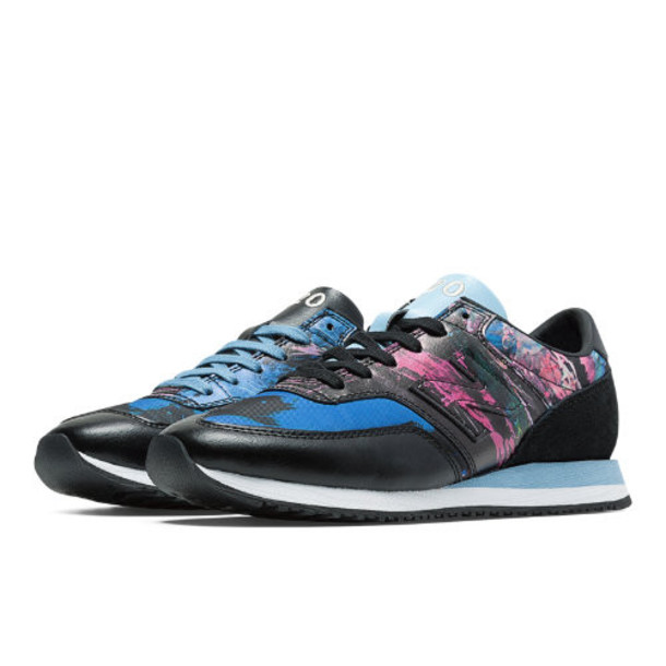 New Balance 620 Tokyo Design Studio Women's Sport Style Shoes - Black/Periwinkle/Pink Glo (CW620MBK)