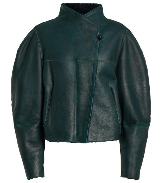 Isabel Marant Acacina shearling jacket in green