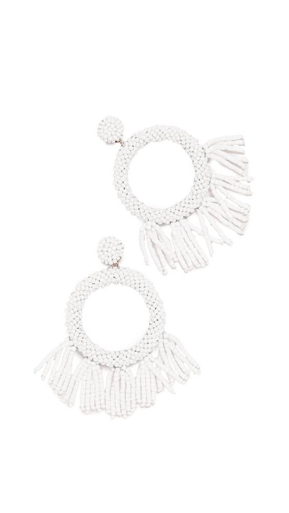 Deepa Gurnani Teeganx Earrings in white