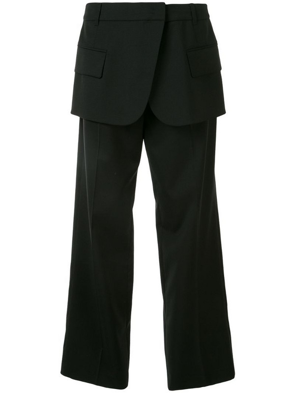 Goen.J Blazer Motif Wool trousers in black