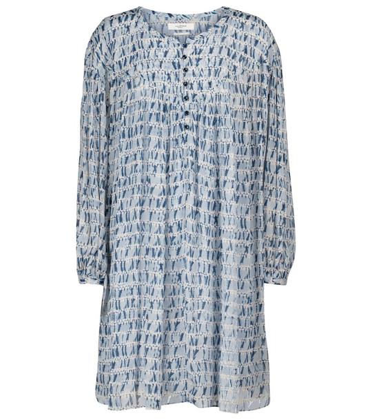 Isabel Marant, Étoile Silorion tie-dye chiffon minidress in blue