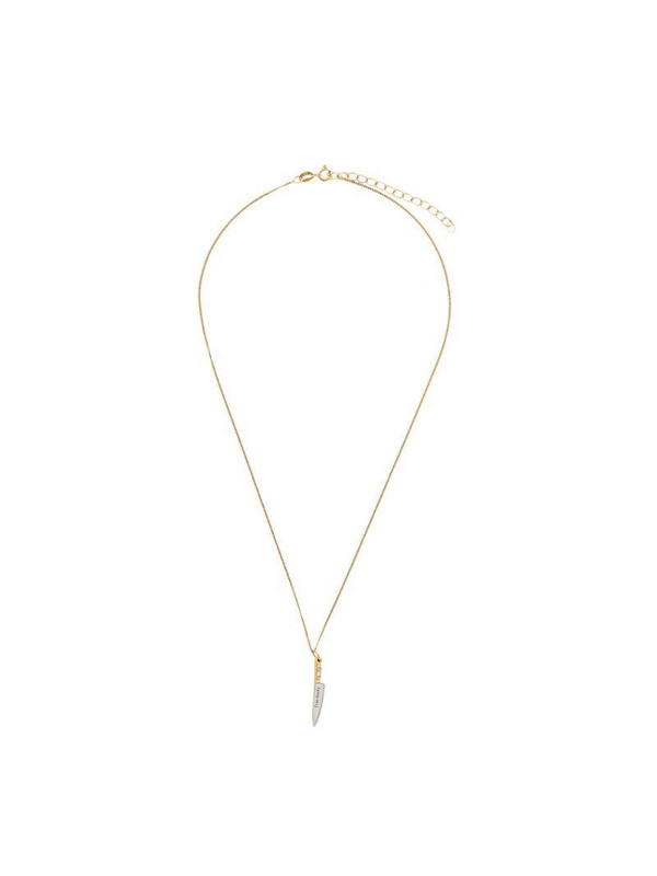 True Rocks small knife necklace in gold