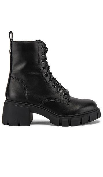 Steve Madden Hybrid Combat Boot in Black
