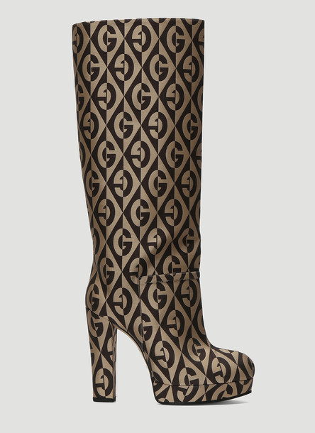 Gucci Britney Logo Boots in Brown size EU - 36
