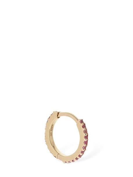 MARIA BLACK Rainbow 7mm Sapphire Mono Huggie Earring in gold / pink
