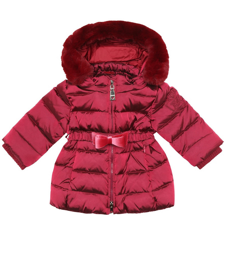 Monnalisa Baby down coat in pink