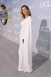 dress,cape,cape dress,gisele bündchen,celebrity,maxi dress,white dress
