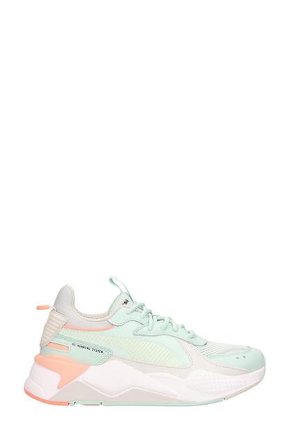 Puma Aqua Green Technical Fabric Sneakers Rs-x Track