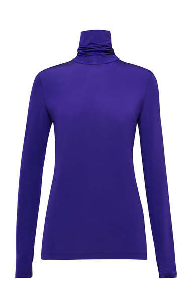 Dorothee Schumacher Enticing Colors Long Sleeve Top in purple