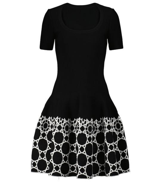 Alaïa Jacquard stretch-knit minidress in black