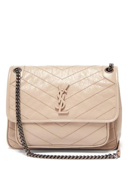 Saint Laurent - Niki Medium Leather Shoulder Bag - Womens - Beige