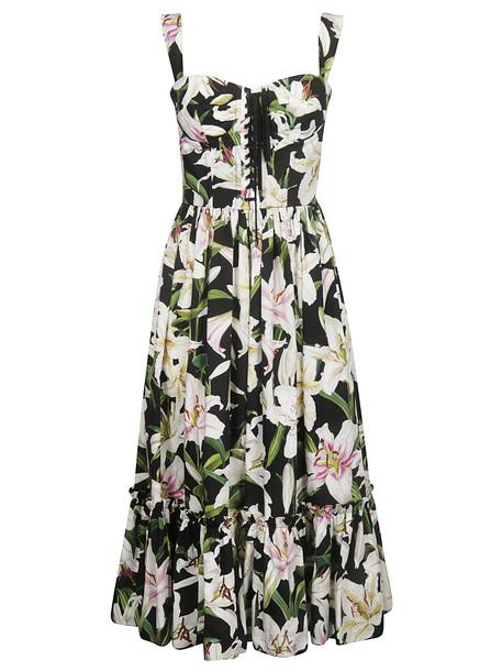 Dolce & Gabbana Printed Dress in nero