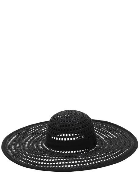 EUGENIA KIM Sunny Hat W/ Grosgrain Band in black