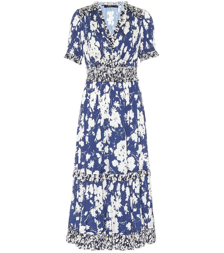 Polo Ralph Lauren Mixed floral satin midi dress in blue