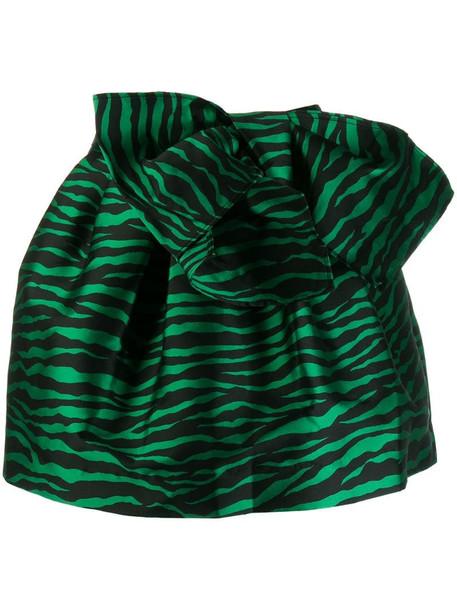 P.A.R.O.S.H. zebra print skirt in green