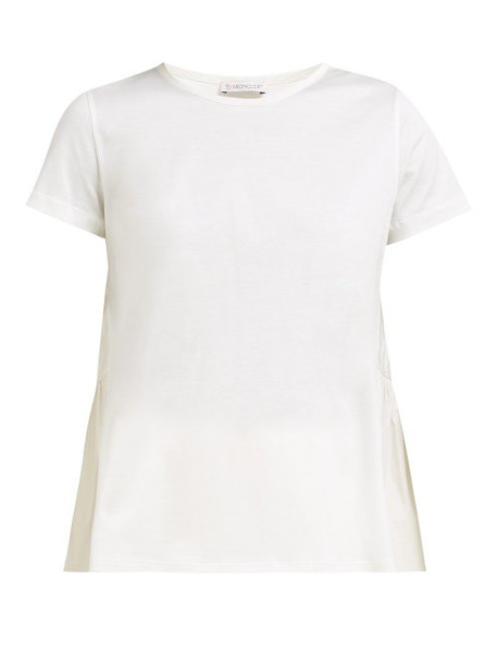 Moncler - Cotton Jersey And Shell T Shirt - Womens - White