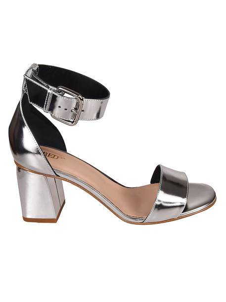 Valentino Buckled Sandals in silver