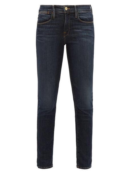 Frame - Le High Skinny Jeans - Womens - Dark Denim