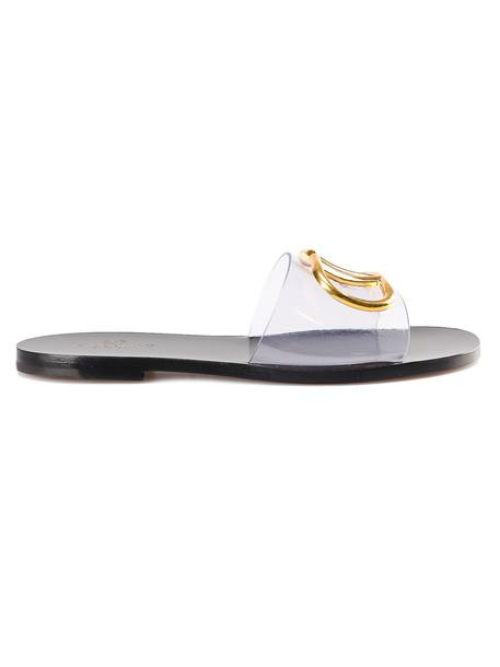 Valentino Garavani Go Logo Slide Sandal in nero