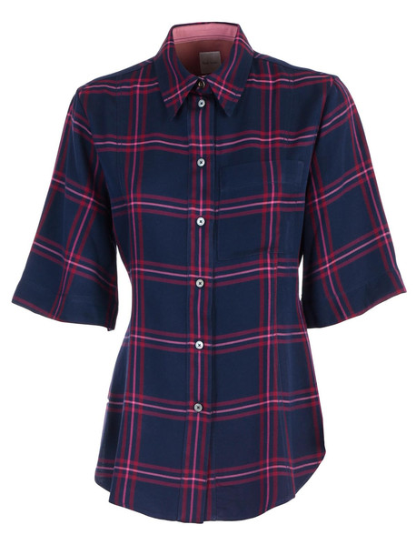 Paul Smith Plaid Shirt in navy
