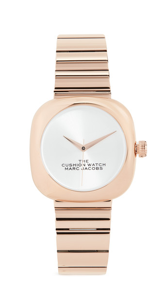 The Marc Jacobs The Cushion Watch in gold / rose