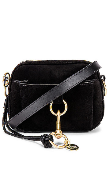 See By Chloe Tony Small Crossbody Suede Bag in Black