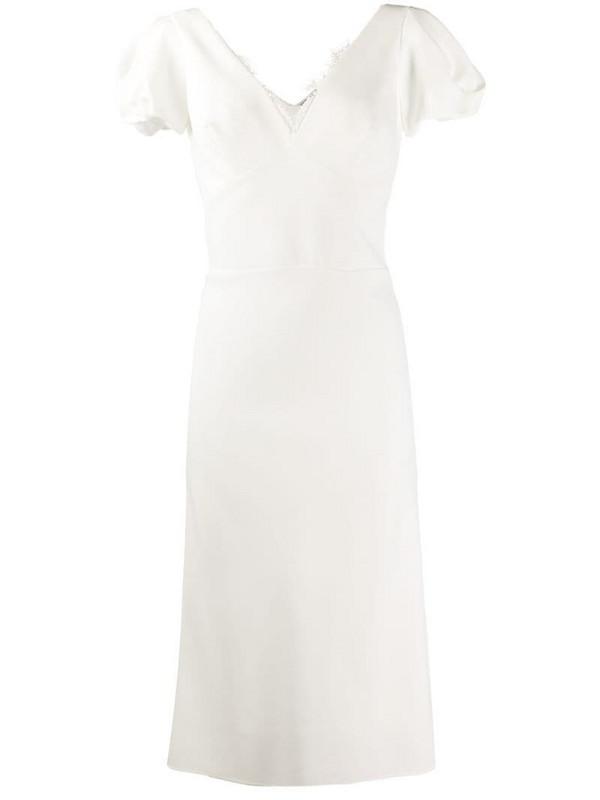 Ermanno Scervino technical cady sheath dress in white