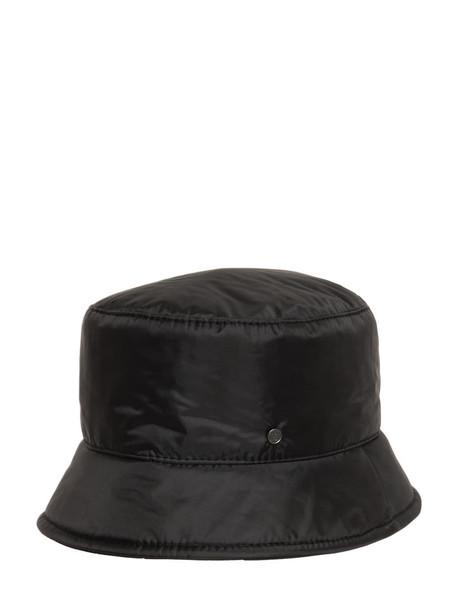 MAISON MICHEL Axel Bomber Nylon Hat in black