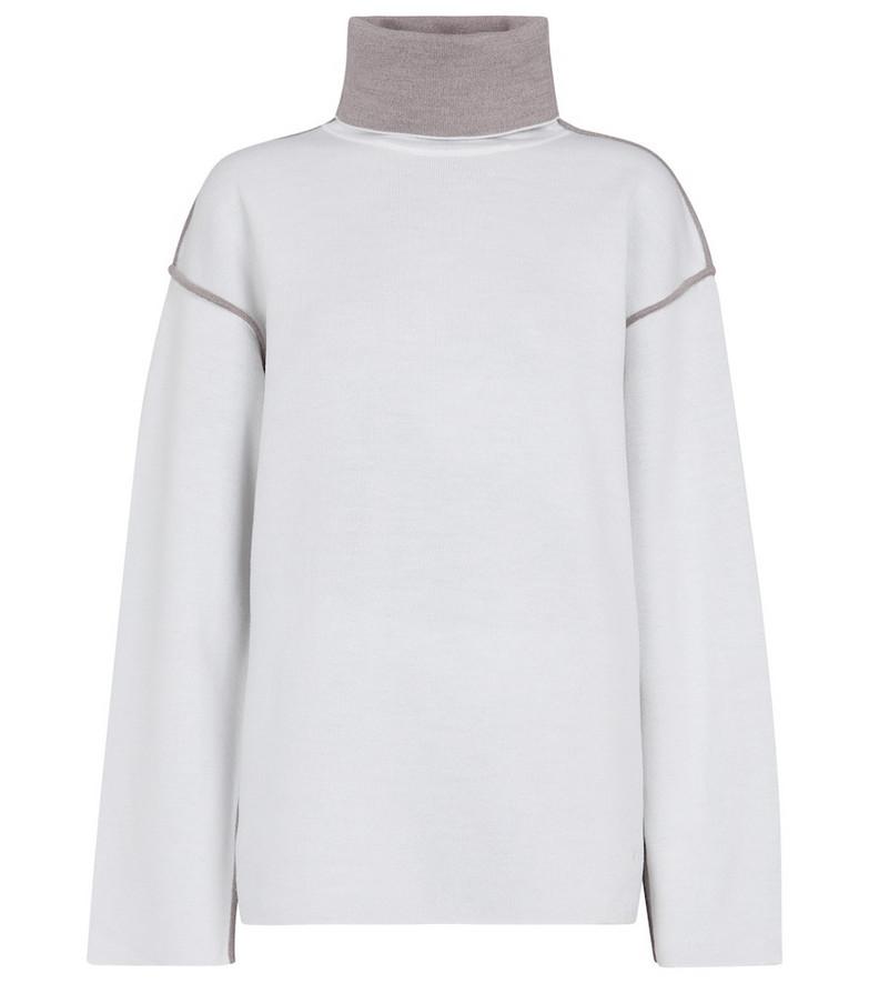 Victoria Victoria Beckham Jersey turtleneck sweater in white