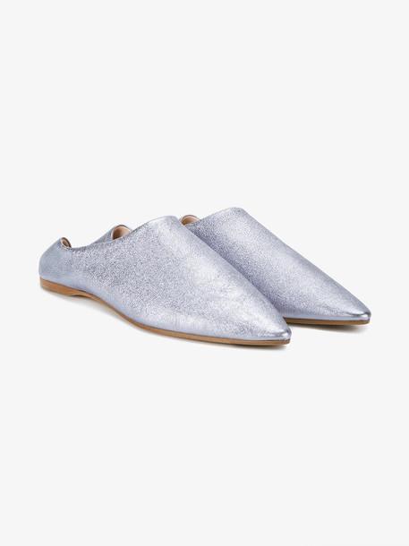 Acne Studios metallic Amina loafers
