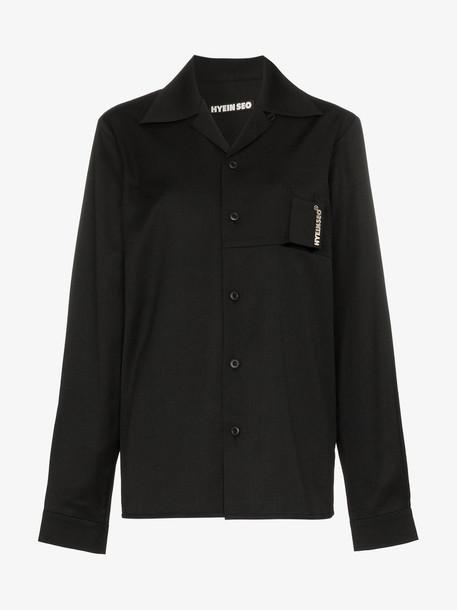Hyein Seo HYEINSEO TOP SHRT SMOKER WL in black