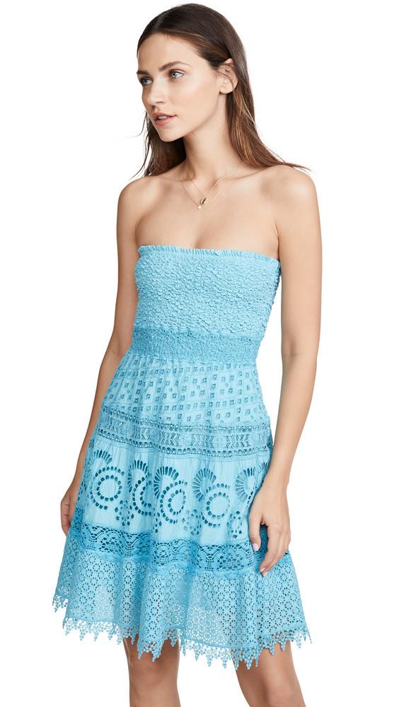 Temptation Positano Ostia Mini Dress in teal
