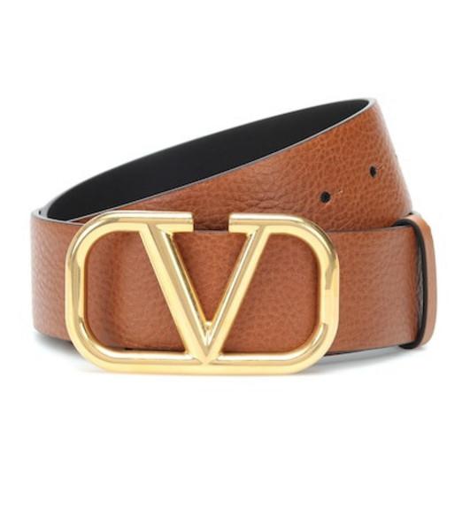 Valentino Garavani VLOGO leather belt in brown