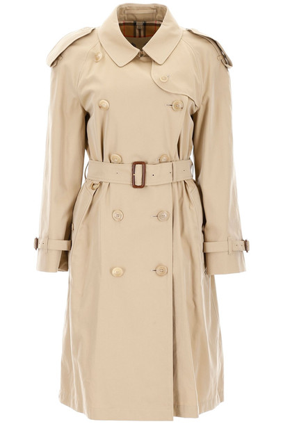 Burberry Long Westminster Trench Coat in beige