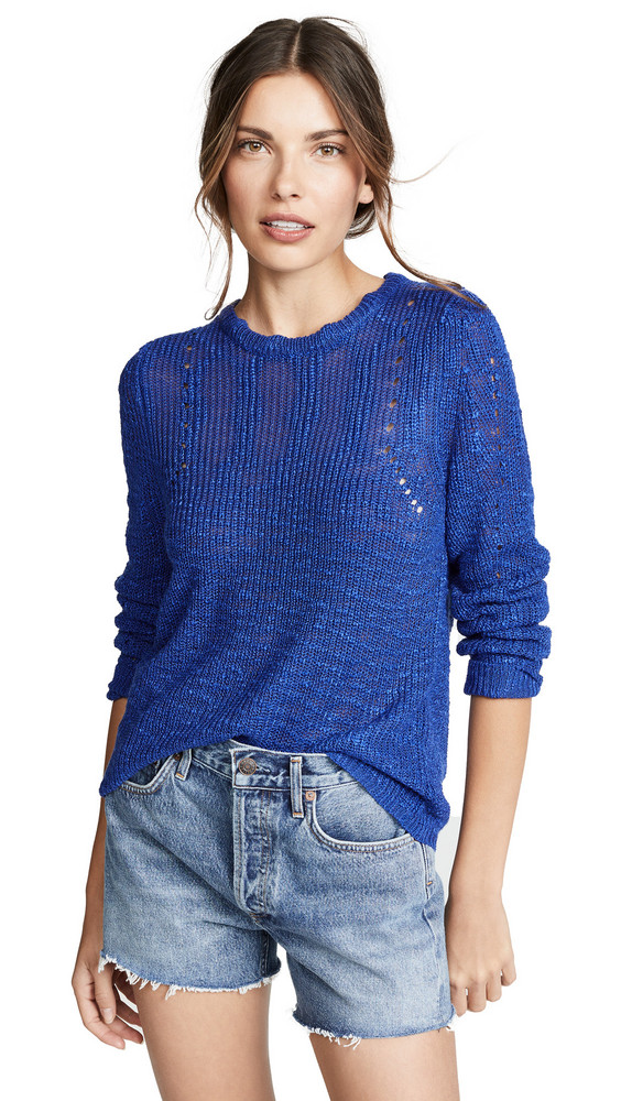 Line & Dot Corrine Sweater in blue