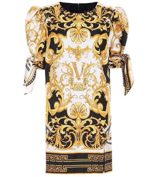 Versace Printed silk minidress