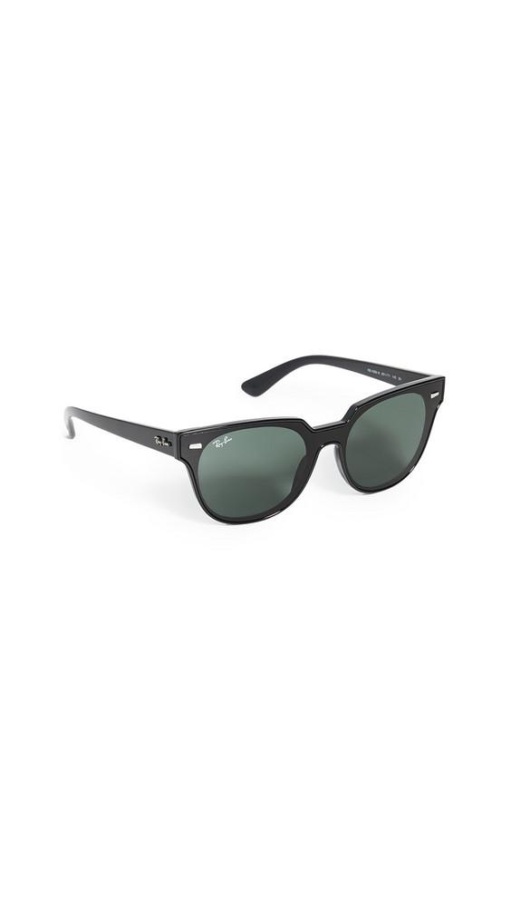 Ray-Ban Highstreet Round Sunglasses in black / green