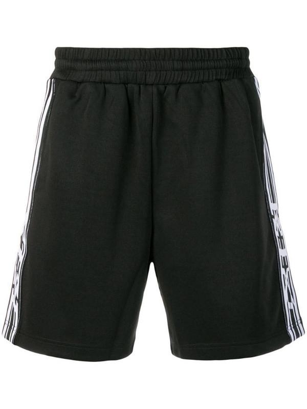 KTZ ribbon stripe jogging shorts in black