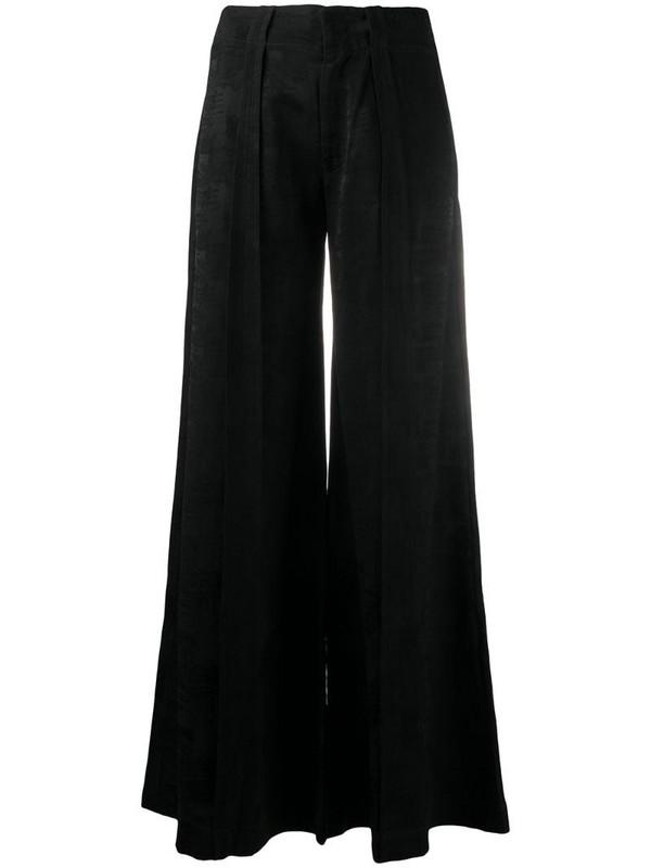 Andrea Ya'aqov high-waisted wide-leg trousers in black