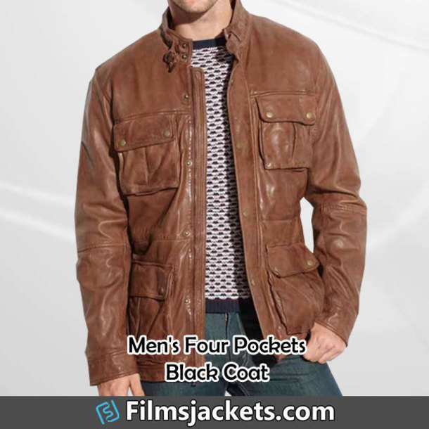 coat mens vintage brown leather jacket jacket fashion outfit style menswear lifestyle mens  fashion men's outfit