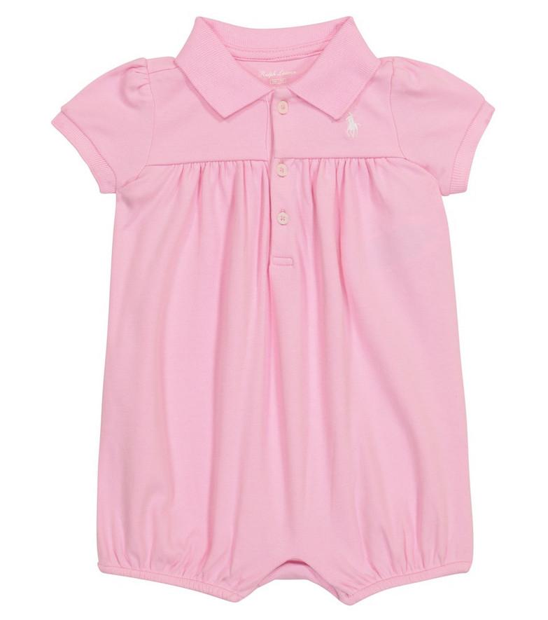 Polo Ralph Lauren Kids Baby cotton bodysuit in pink
