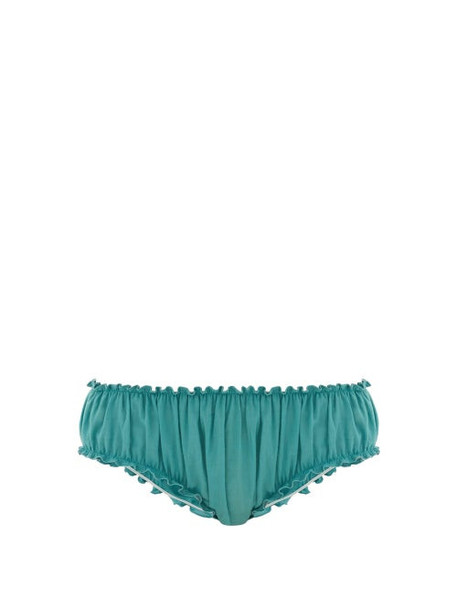 Loup Charmant - Bloomer Organic Cotton Briefs - Womens - Blue